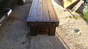 Barn board coffie table 2foot by 5foot by 16 inch Cambridge Kitchener Area image 3