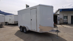 Brand new full aluminum 7x14 enclosed  ramp extra height