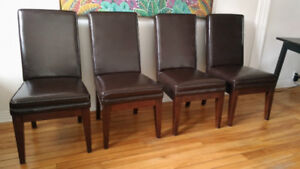 4 + 2 Leather Parson chairs