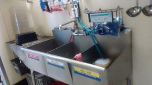 Sink, water tank, stainless table, dining table.... for sale