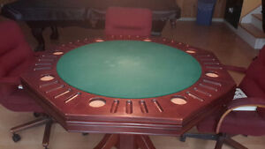52 inch poker table/bumber pool