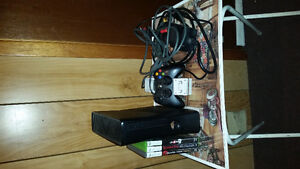 X Box 360 with 3 Games and Controller Charger