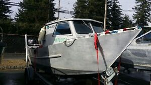 19.5' WELDED ALUMINUM BOAT WITH CABIN