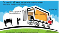 Smoooth Movers ($55/hr for 2 men) conscientious movers/ delivery
