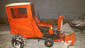 18hp lawn tractor with blower