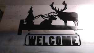 Cnc plasma cut welcome sign