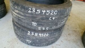 Pair of 2 Bridgestone Dueler HP Sport 235/45R20 tires (65% tread