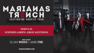 Mariana's Trench Concert tickets - March 26 Edmonton