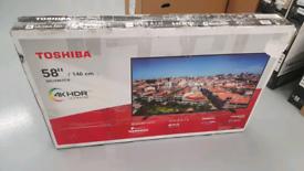 TV TOSHIBA NEW UNUSED SMART WIFI 4K ULTR HD HDR