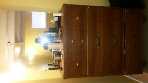 Clean Wooden Dresser with Mirror