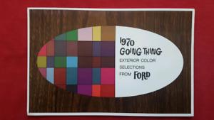 1970 FORD MUSTANG TORINO RANCHERO COBRA Paint Chip Brochure NOS