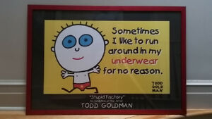 Todd Goldman framed print from the stupid factory