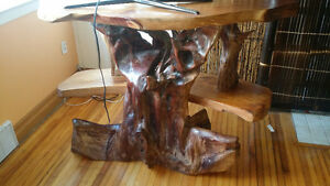 One of a kind exotic   wood carved tv stand Kingston Kingston Area image 8
