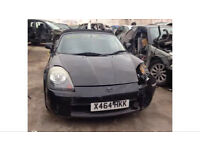 TOYOTA MR2 ROADSTER MK3 1.8 VVTI. Black BREAKING FOR PARTS SPARES ONLY. ROOF AND WHEELS ARE SOLD.