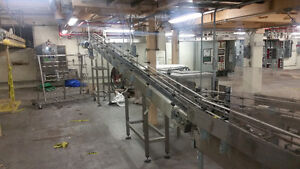 Stainless incline belt conveyor London Ontario image 1