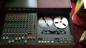 """Tascam 388 - Studio 8 1/4"""" 8-Track Tape Recorder with Mixer"""
