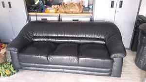 Black leather couch for sale