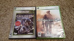 XBOX 360 Call of Duty Modern Warfare 2 and Call of Duty 2 London Ontario image 1