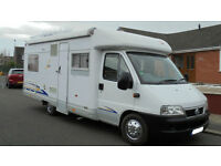 Burstner T615 2004 4 Berth Motorhome with Fixed Rear Double Bed