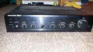 Harmon Kardon amp and Pioneer Turntable