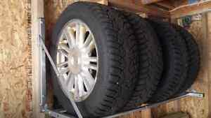 Snow tires on rims