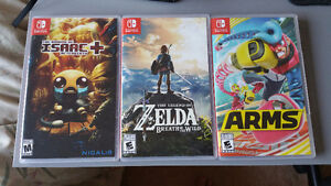 Zelda Breath of the wild, Binding of Isaac Afterbirth, ARMS