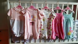 Baby girl bundle romper suits