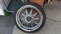 """22""""  265/35R22 Rims with Tires- Set of 4"""