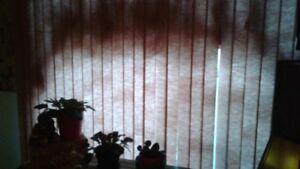 window blinds  20.00  Dusty rose.