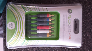 Brand new xbox 360 Component Cables! Only $4.99!!!