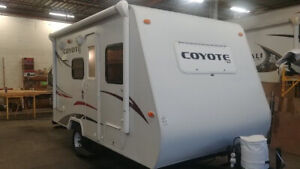Downsizing,16 foot hybrid 2010  Coyote travel trailer ~easy tow.