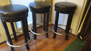 5 leather bar stools 30 inches high Great Deal