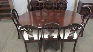 Strathroy Furniture Cherry Dining Table & 8 Chairs