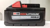 Milwaukee M18 XC8.0 High Output Li-Ion Battery