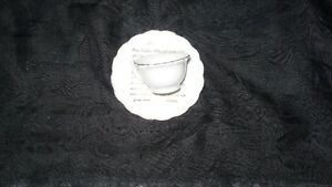 "VINTAGE ADORABLE MINIATURE ""LORD'S PRAYER"" TEA CUP & SAUCER Kitchener / Waterloo Kitchener Area image 1"