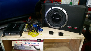 Pioneer amp and subwoofer