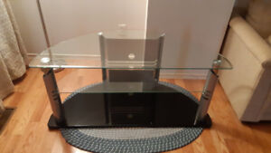 Sony tempered glass TV stand w/adjustable middle shelf