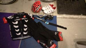 Ordinateur vélo, speedomère, cadence, mini pump, soulier, etc.