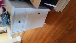 Twin ikea bed and night stand