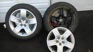 4 tires, wheels and hub caps for Pontiac G6
