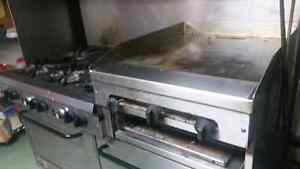 6 burner stove with griddle and 2 ovens in bottom Windsor Region Ontario image 2