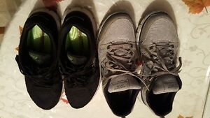 Skechers Men's Athletic Shoes. Gray & Black. 2 pairs. Size 9