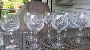 Pinwheel crystal glasses Kitchener / Waterloo Kitchener Area image 5