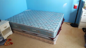 Mattress + box spring + Frame + wardrobe and mirror set