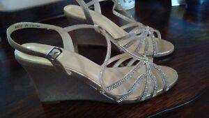 *Dressy shoes,Size 7 purchased From David's Bridal, never worn*