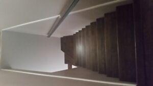 Laminate clipped hardwood looking flooring