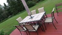 8pc patio table set