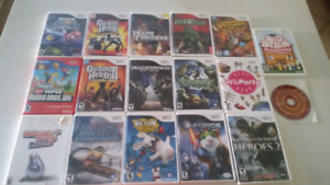 Lot de 17 jeux de WII