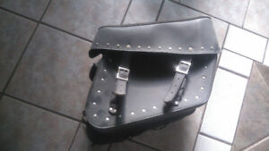 New leather saddle bags