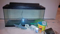 30 gallon fish tank with accessories in Airdrie